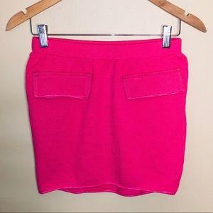 NWOT St. John Hot Pink Faux Pocket Mini Skirt